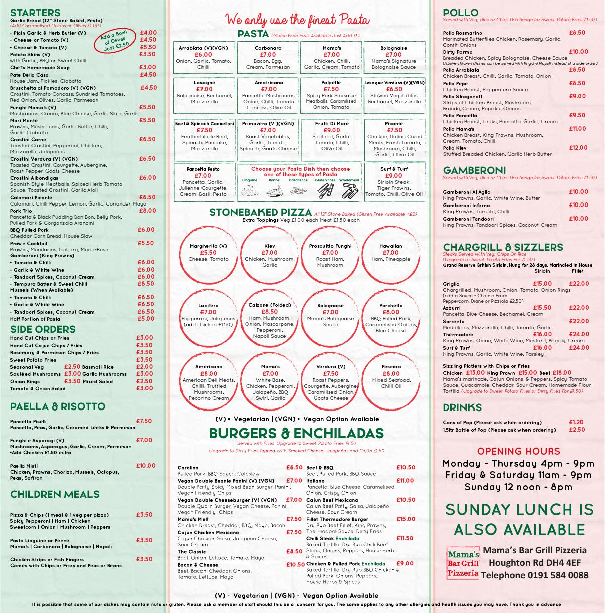 Mama S Italian Kitchen Bar Grill Pizzeria